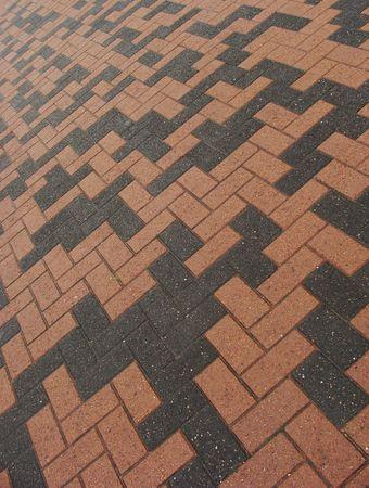 orange black rectangular tile pavement pattern