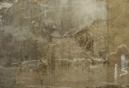 dirty gray beige old worn concrete wall                                Stock Photo