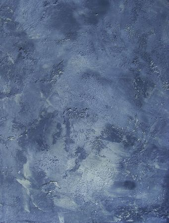 cloudy worn blue concrete wall