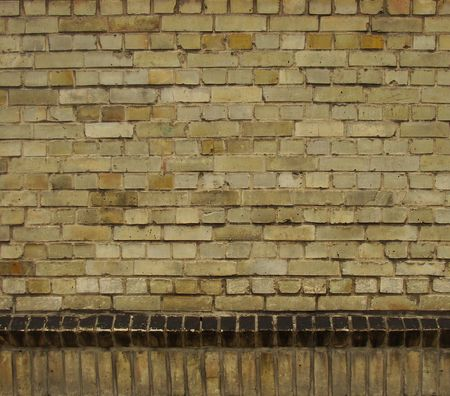 horizontal and vertical beige brown black brick wall Stock Photo - 7871680