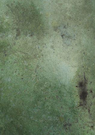 close view of green blue worn bronze