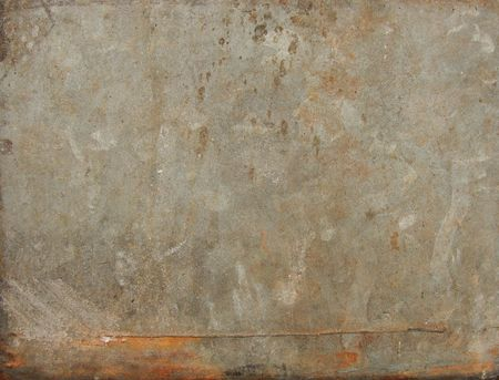 grungy rusty sheet of worn metal