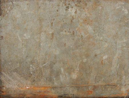 grungy rusty sheet of worn metal                                                                                              photo