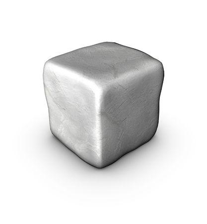 singular: 1 one 3d singular cobble stone on white