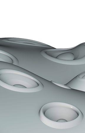 odd landscape made up of speaker soundsystem photo