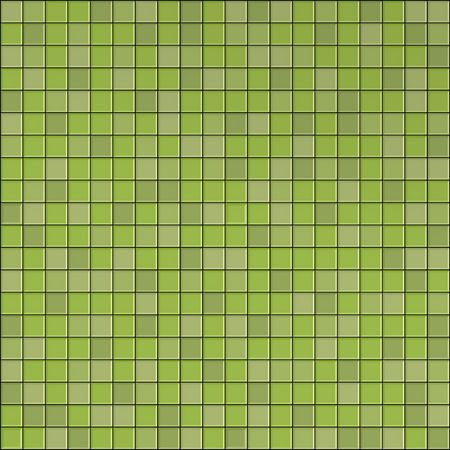3d graphical render of green mosaic wall photo