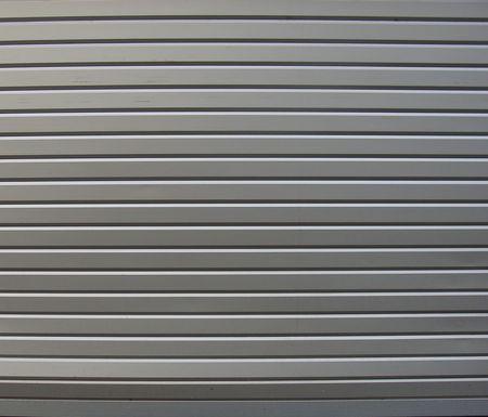 metal roller shutter from shop                                Stock Photo