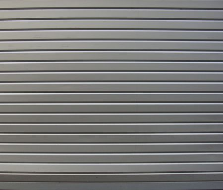 metal roller shutter from shop                                Stock Photo