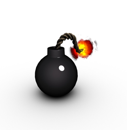 3d render of a vintage cartoon style pirate bomb  Stock Photo - 8408495
