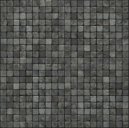 cobble: grande render 3d di un pavimento in mosaico di pietra liscia grigio muro