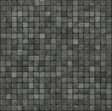 grote 3d render van een grijze glad stenen muur mozaïekvloer