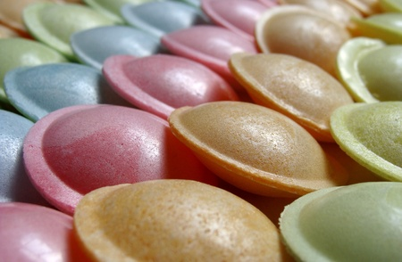 ufo shaped candy sweet in different colors
