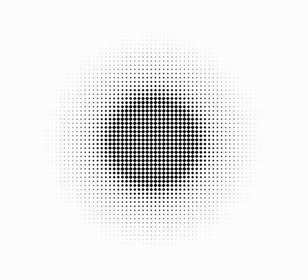 degrade: white on black radial checker halftone graphic gradient Stock Photo