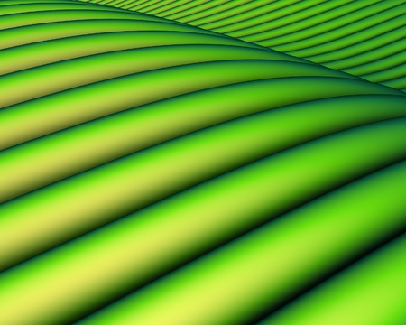 3d render of a green tube sloping landscape photo