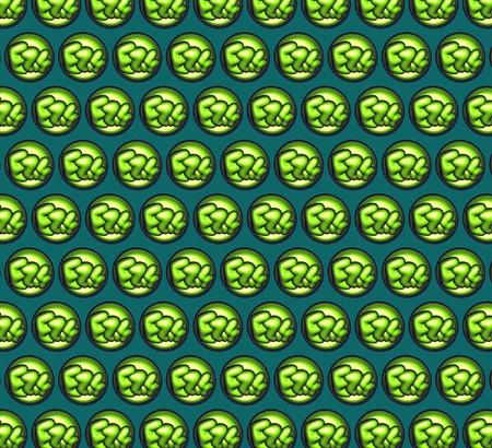 green pattern with mini 3d bubble graffiti photo