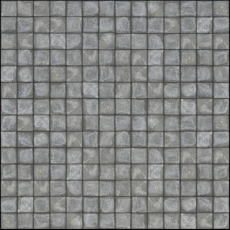 detailed 3d render of square pavement tiles in gray stone concrete  Stock Photo - 9790902