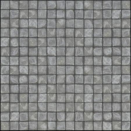 gedetailleerde 3d render van vierkante stoep tegels in grijze steen concreet  Stockfoto