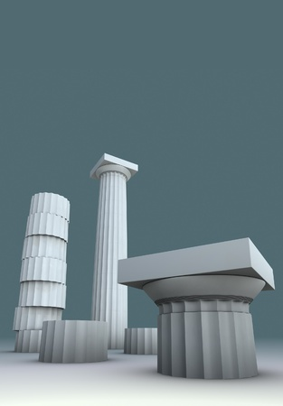 3d render illustration on Greece Greek culture