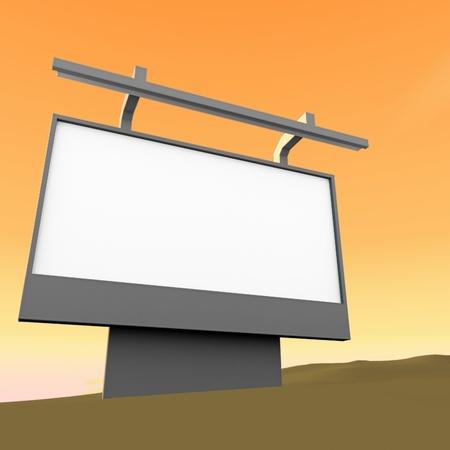 marketeer: bad marketing 3d render billboard in desert