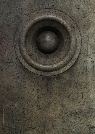 3d render grunge old speaker sound system deejay DJ  photo