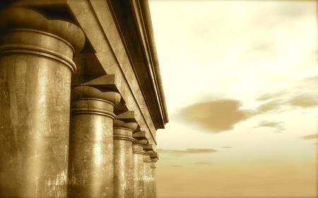 architrave: 3d antique classical architecture roman monument render