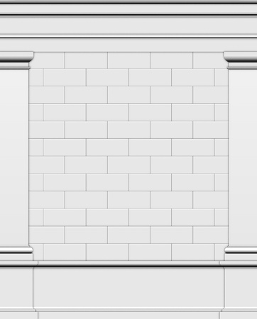 architrave: 3d render side wall of a typical Greek Roman structure Stock Photo