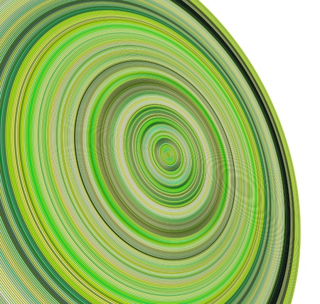 3d render concentric pipes in multiple green colors photo