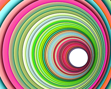 3d render concentric pipes in multiple colors Stock Photo - 12535847