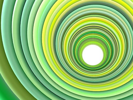 3d render concentric pipes in multiple green colors Stock Photo - 12535850