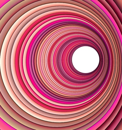 3d render concentric pipes in multiple pink colors  photo