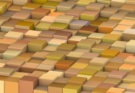 abstract 3d render cubes in different shades of orange Stock Photo - 13045915