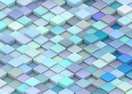 abstract 3d render backdrop cubes in different shades of blue Stock Photo - 13076824