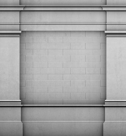 architrave: 3d antique classic architecture Greek Roman wall render Stock Photo