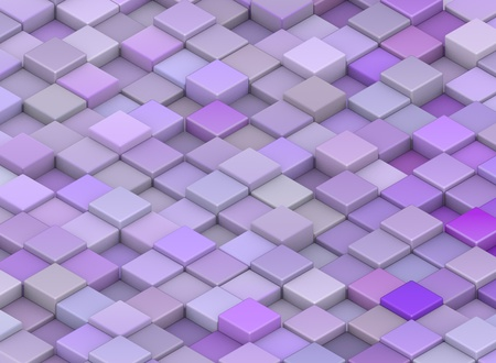 abstract backdrop 3d render cubes in different shades of purple Stock Photo - 13258008