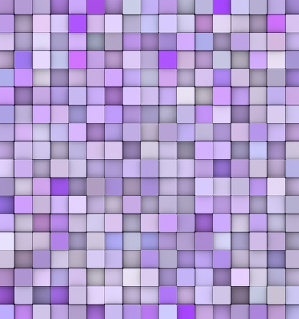abstract backdrop 3d render cubes in different shades of purple photo