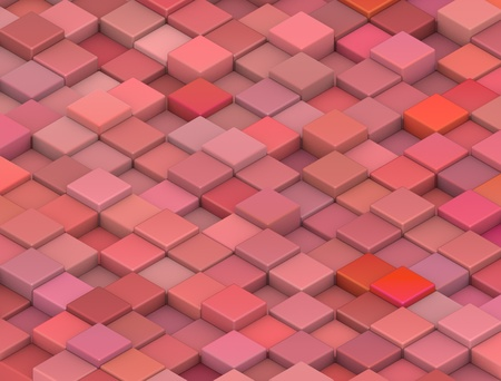 abstract 3d gradient backdrop cubes in tangerine red Stock Photo - 13317595