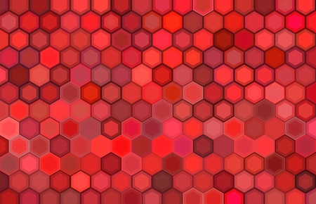 abstract 3d render hexagon backdrop in red colors  Stock Photo - 13329183