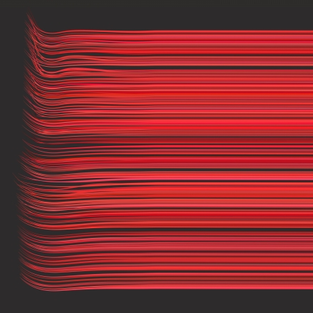 3d render multiple wavy lines in different red pink photo