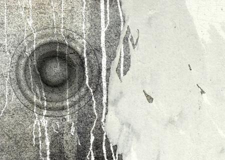 sono: 3d grunge vieux syst�me de son haut-parleur affiche deejay DJ Banque d'images