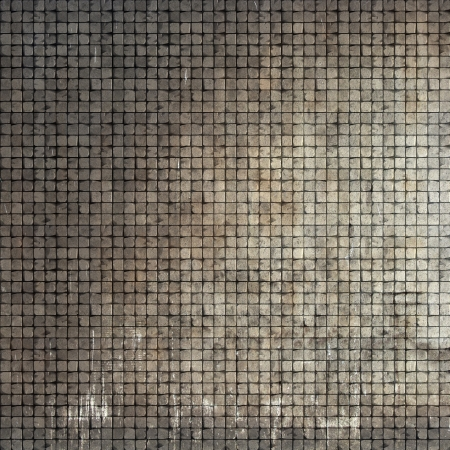 3d render of a grunge stone tile mosaic wall floor  photo