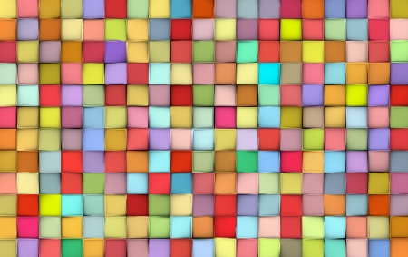 abstract tile pattern mixed color surface backdrop Stock Photo - 14016415