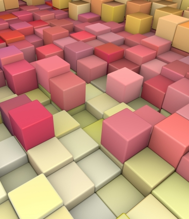 cubical: abstract 3d gradient backdrop cubes in happy fruity colors  Stock Photo