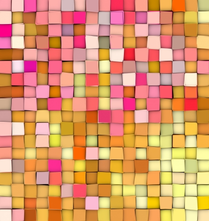 abstract 3d gradient backdrop cubes in happy fruity colors  Banco de Imagens