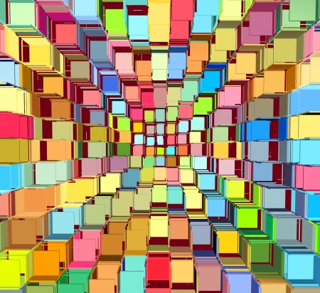 fragmented: 3d abstract fragmented bright colored pattern