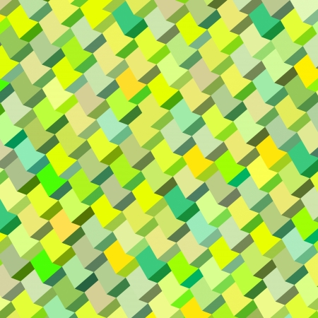 cubical: abstract cubical multiple green yellow pattern backdrop