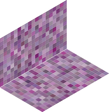 isometric tile pattern mixed pink purple backdrop Stock Vector - 14744640