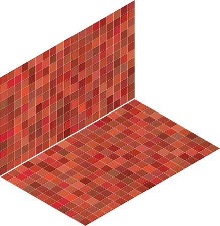 red pink tile isometric mosaic backdrop Stock Vector - 14744637