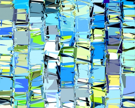 fragmented: abstract fragmented pattern in blue yellow green