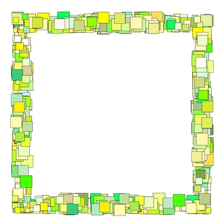 abstract composition with green yellow square plane Stock Photo