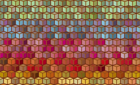 cubical: abstract cubical rainbow color pattern backdrop